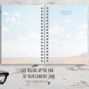 Reisetagebuch mit schönen Bildern und passenden Reise-Zitaten