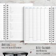 Reisetagebuch für USA / Amerika mit Seiten für Adressen und einem Jahreskalender