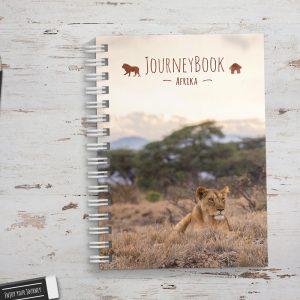 Reisetagebuch für Afrika zum selber schreiben Format: DIN A5