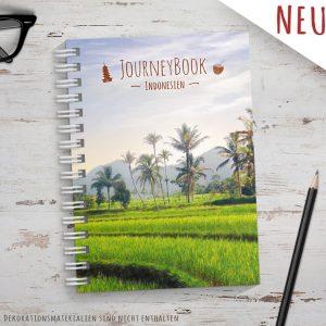 Reisetagebuch für Indonesien als Abschiedsgeschenk zum selberschreiben