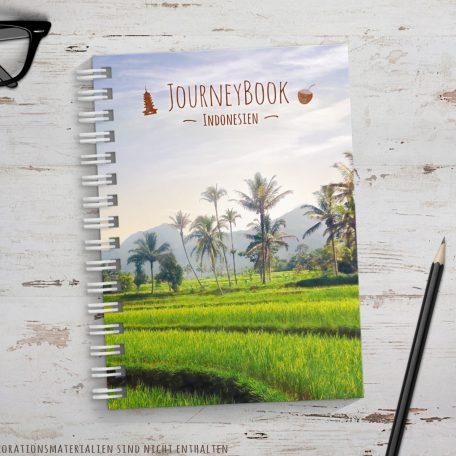 Reisetagebuch für Indonesien als Abschiedsgeschenk zur Reise zum selberschreiben