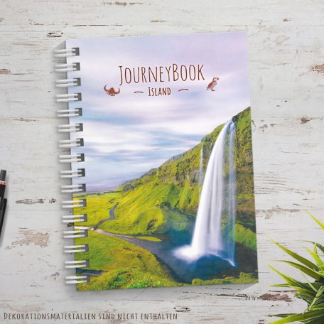 Reisetagebuch für Island als Abschiedsgeschenk zur Reise zum selberschreiben