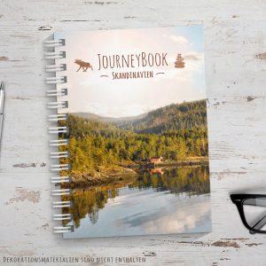Reisetagebuch für Skandinavien als Abschiedsgeschenk zur Reise zum selberschreiben