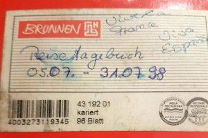 Reisetagebuch 1998