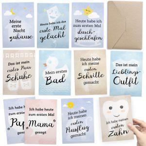 TINYcards Meilenstein-Karten für das 1. Lebensjahr - Geschenk zur Geburt