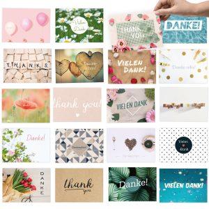 20 moderne Dankeskarten, als Dankeschön für kleine und große Dinge