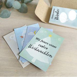TWINcards ZUR ZWILLINGS-GEBURT: <br>30+1 Meilenstein Foto- und Erinnerungs-Karten